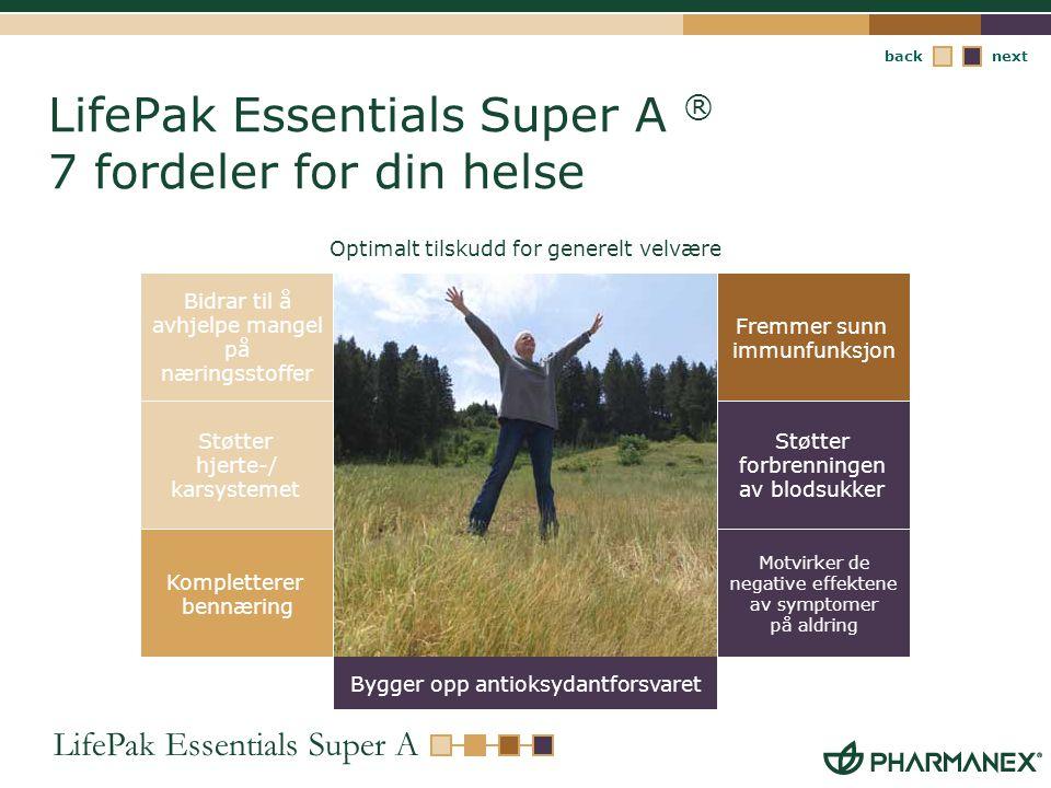 LifePak Essentials Super A ® 7 fordeler for din helse