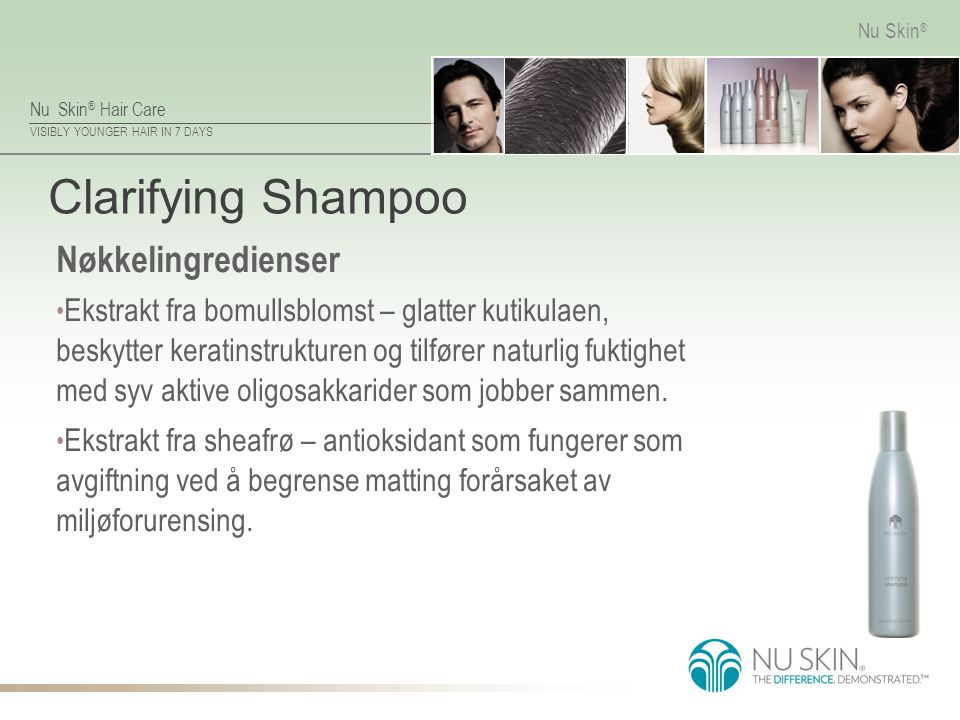 Clarifying Shampoo Nøkkelingredienser