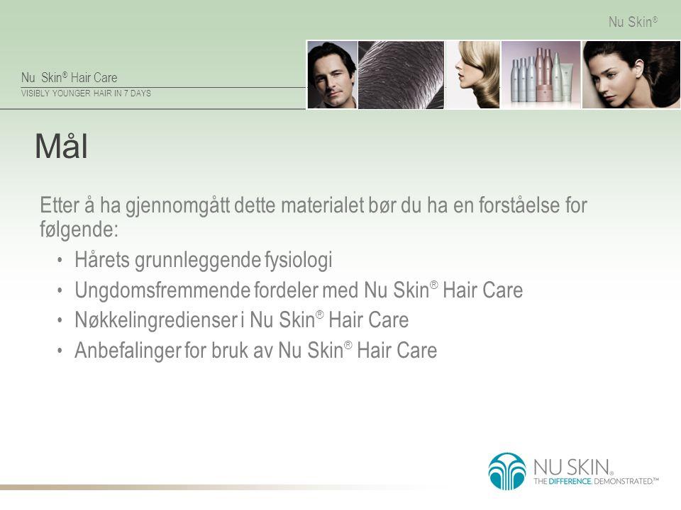 Mål Etter å ha gjennomgått dette materialet bør du ha en forståelse for følgende: Hårets grunnleggende fysiologi.