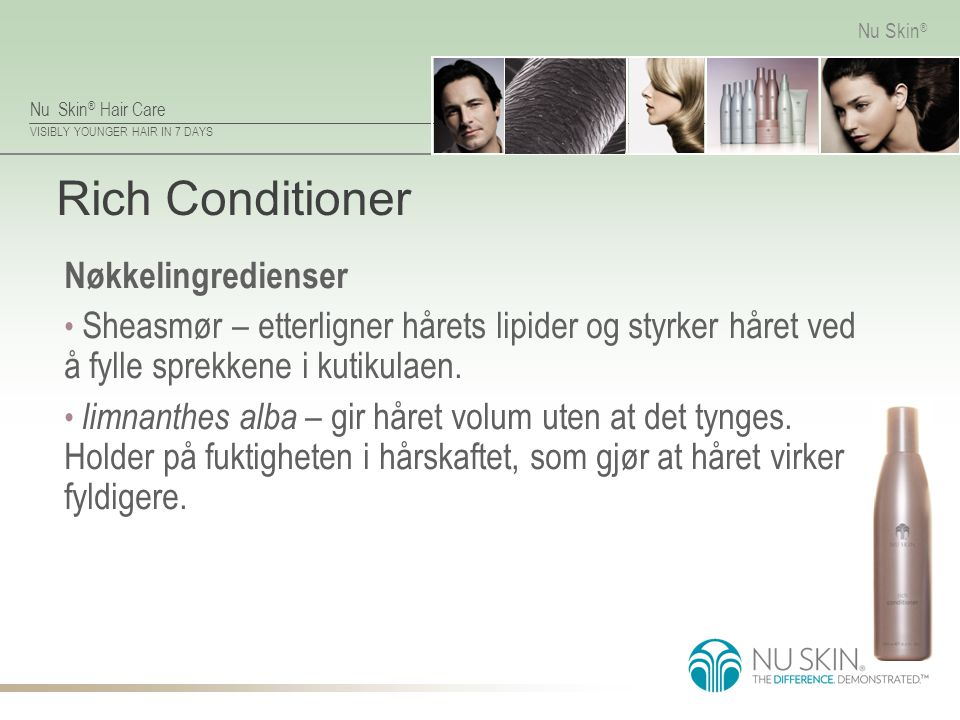 Rich Conditioner Nøkkelingredienser