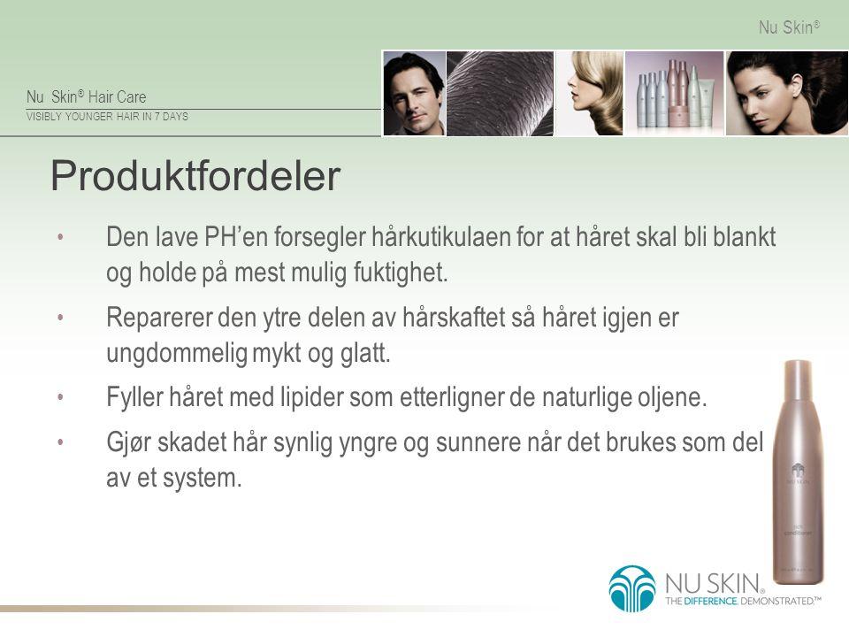 Produktfordeler Den lave PH'en forsegler hårkutikulaen for at håret skal bli blankt og holde på mest mulig fuktighet.