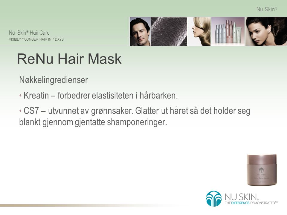 ReNu Hair Mask Nøkkelingredienser