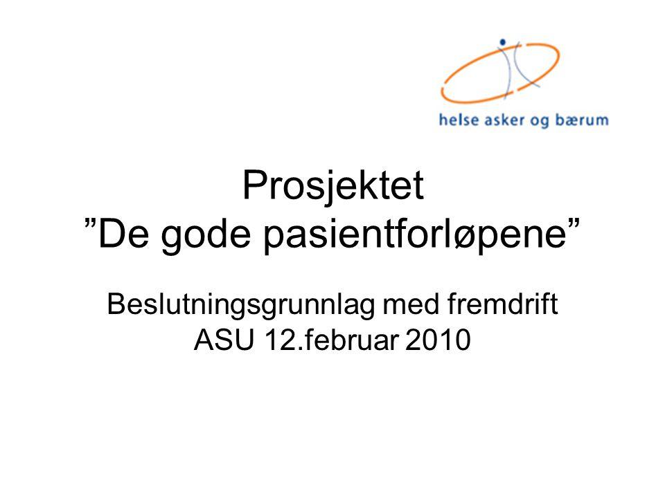 Prosjektet De gode pasientforløpene