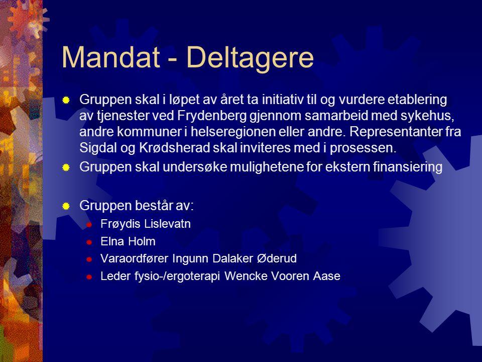Mandat - Deltagere