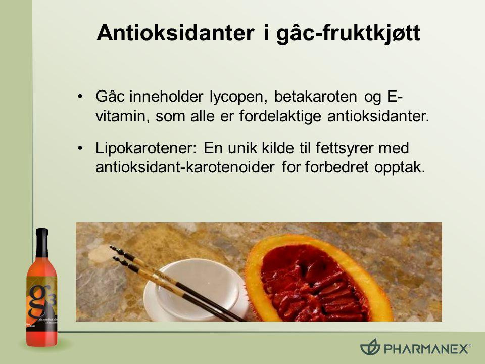 Antioksidanter i gâc-fruktkjøtt