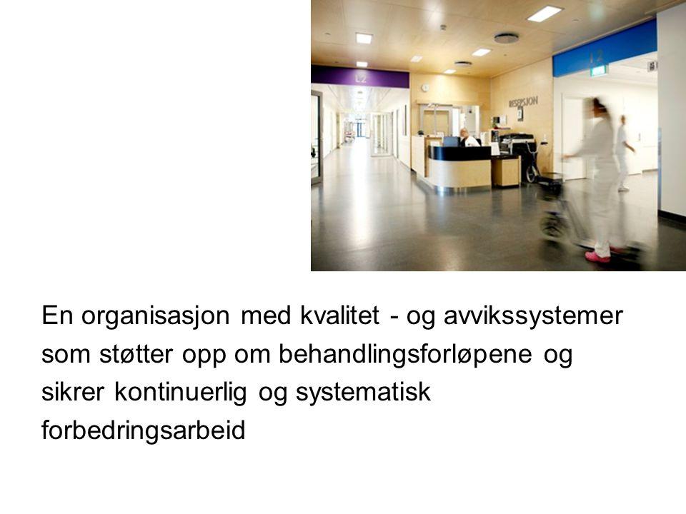 En organisasjon med kvalitet - og avvikssystemer