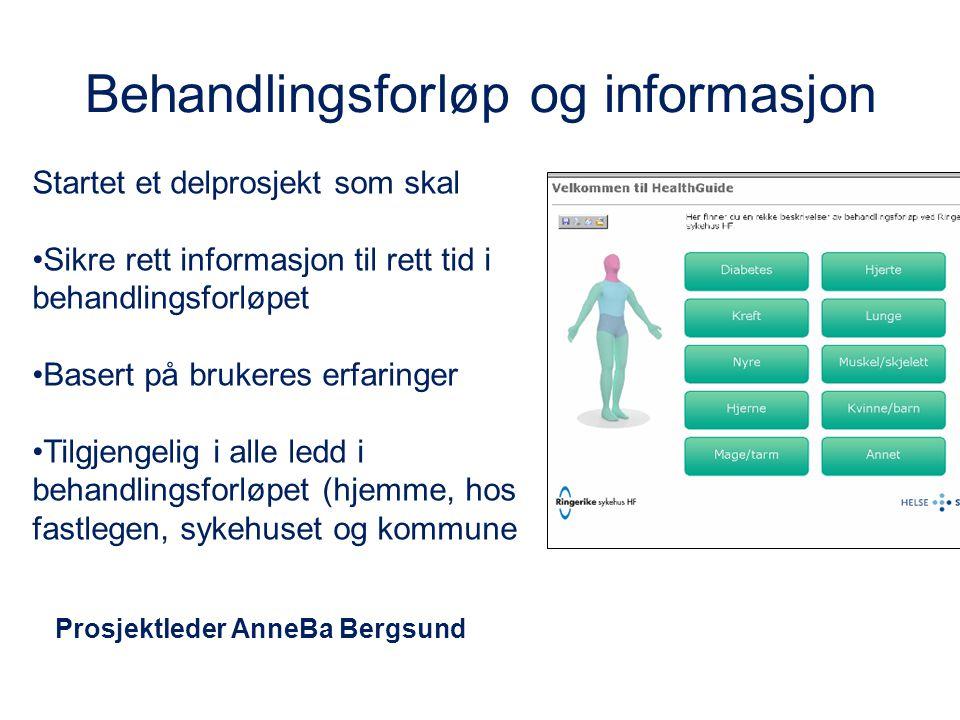 Behandlingsforløp og informasjon