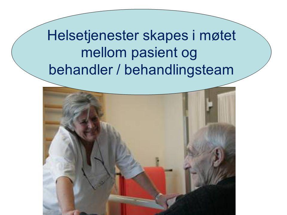 Helsetjenester skapes i møtet mellom pasient og