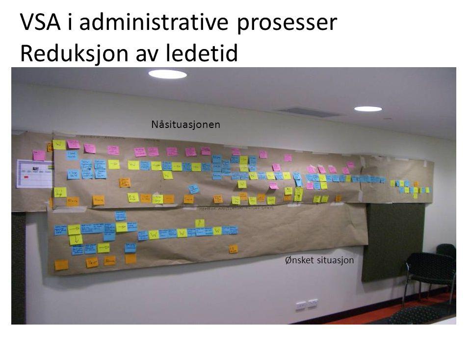 VSA i administrative prosesser Reduksjon av ledetid