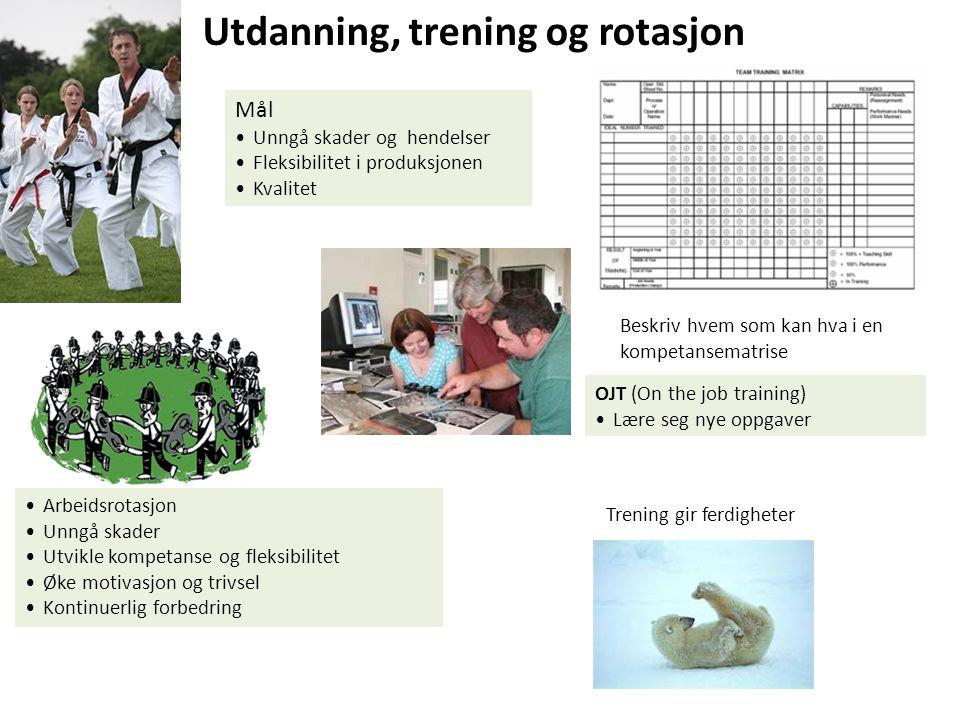 Utdanning, trening og rotasjon