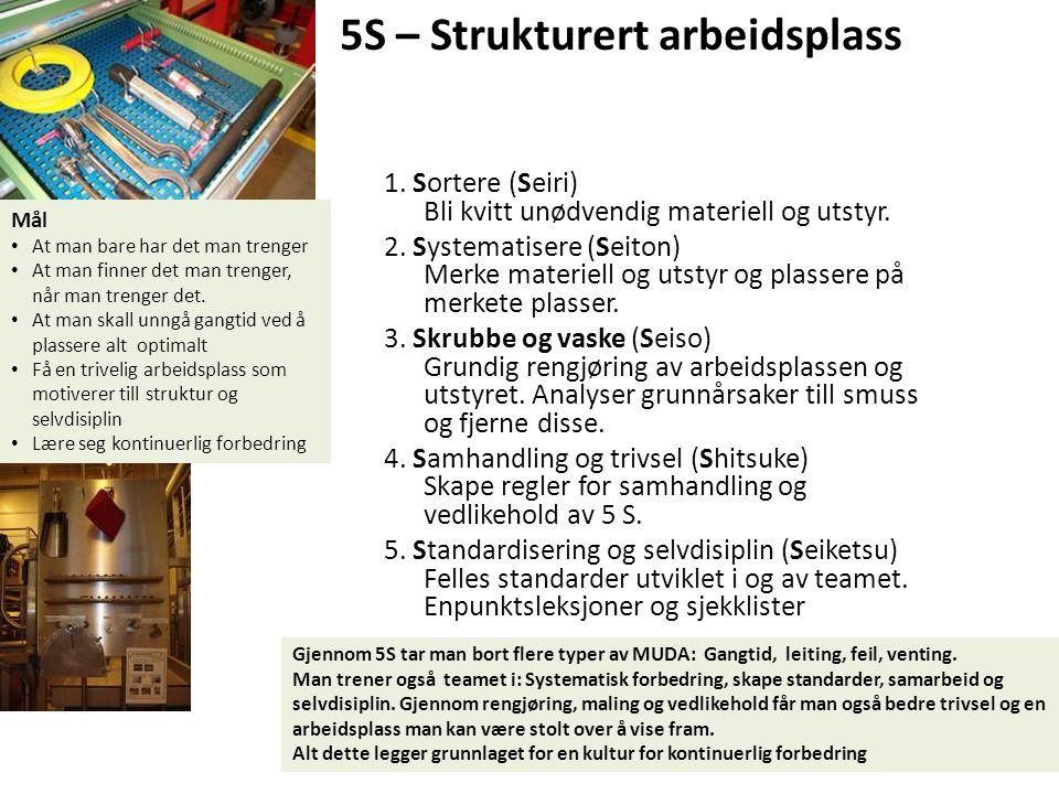 5S – Strukturert arbeidsplass