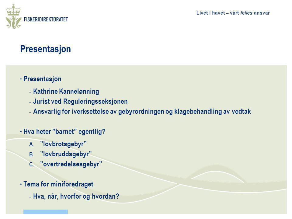 Presentasjon Presentasjon Kathrine Kannelønning