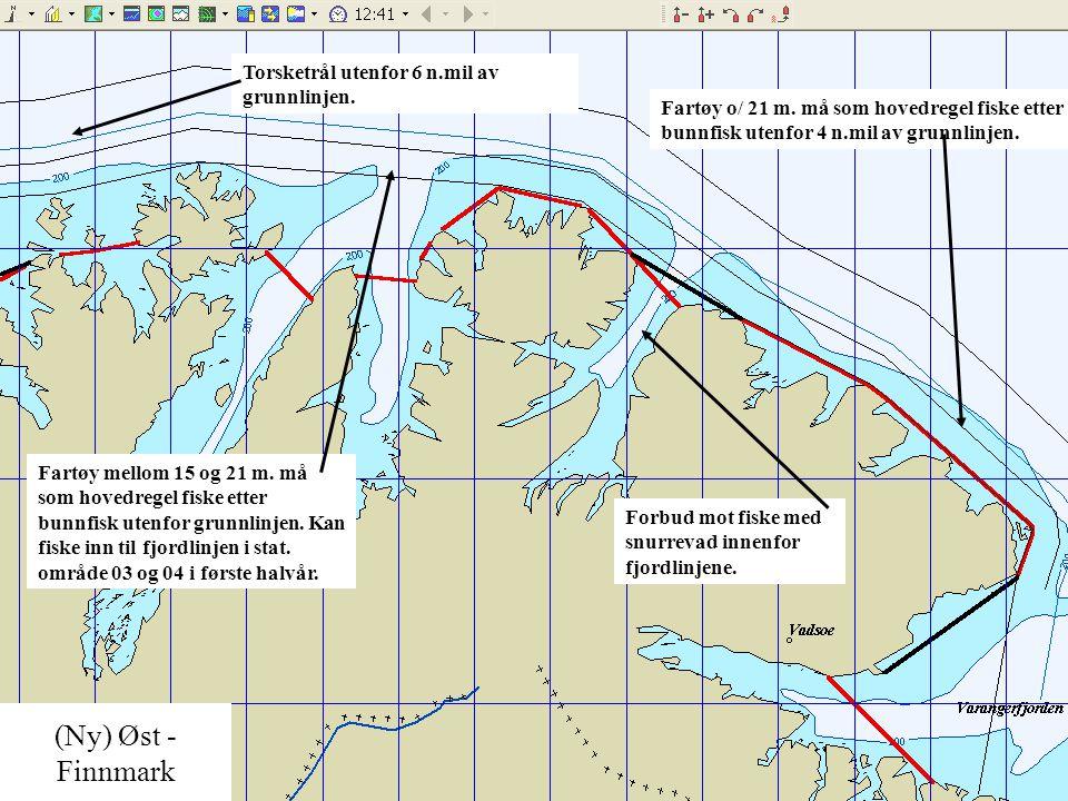 (Ny) Øst - Finnmark Torsketrål utenfor 6 n.mil av grunnlinjen.