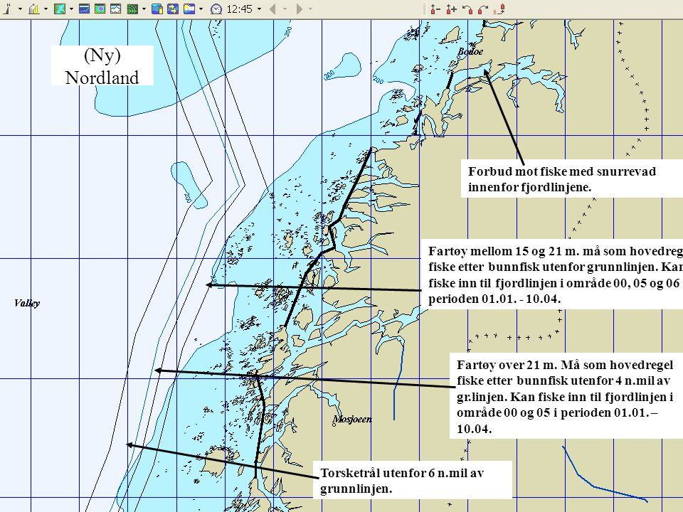 (Ny) Nordland Forbud mot fiske med snurrevad innenfor fjordlinjene.