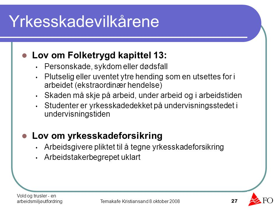 Temakafe Kristiansand 8.oktober 2008