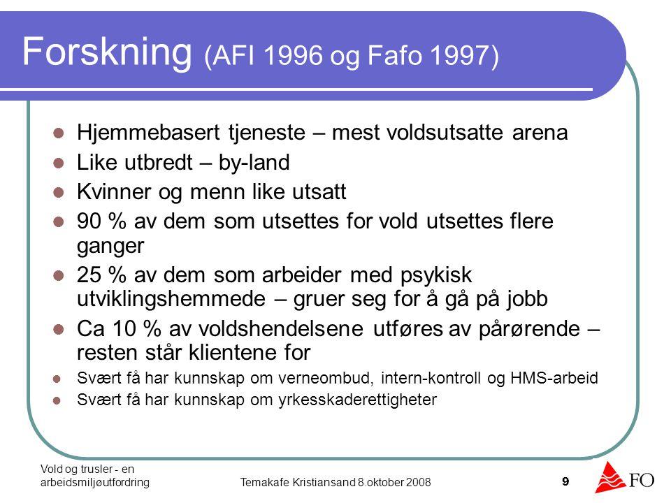 Forskning (AFI 1996 og Fafo 1997)