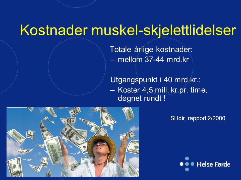 Kostnader muskel-skjelettlidelser