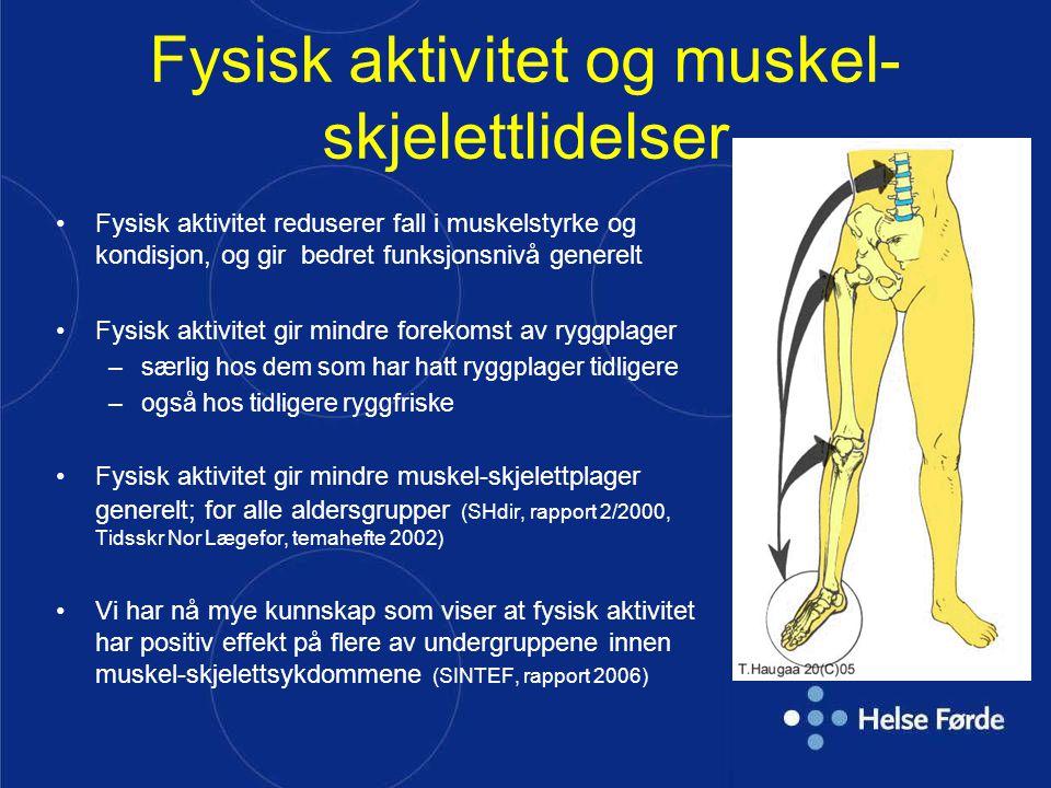 Fysisk aktivitet og muskel-skjelettlidelser