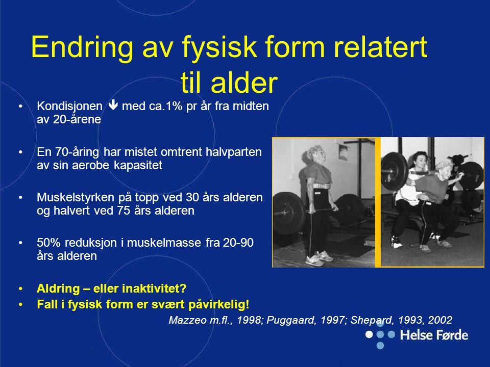 Endring av fysisk form relatert til alder