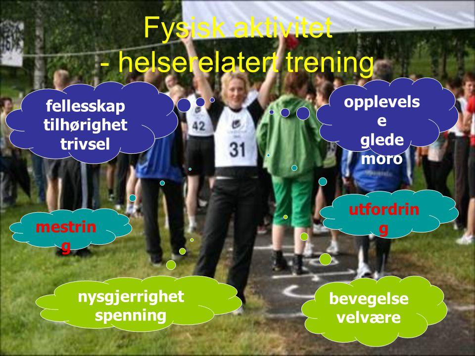 Fysisk aktivitet - helserelatert trening