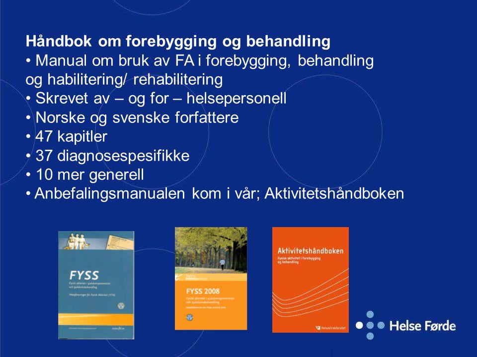Håndbok om forebygging og behandling