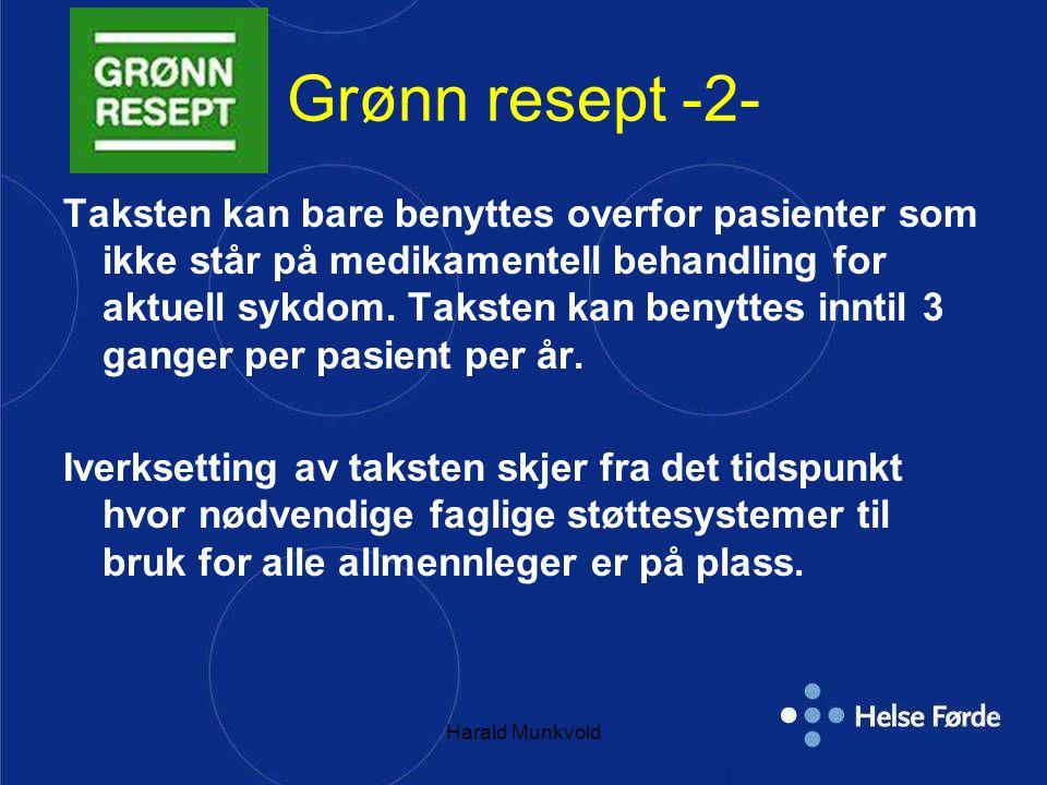 harald munkvold Grønn resept -2-