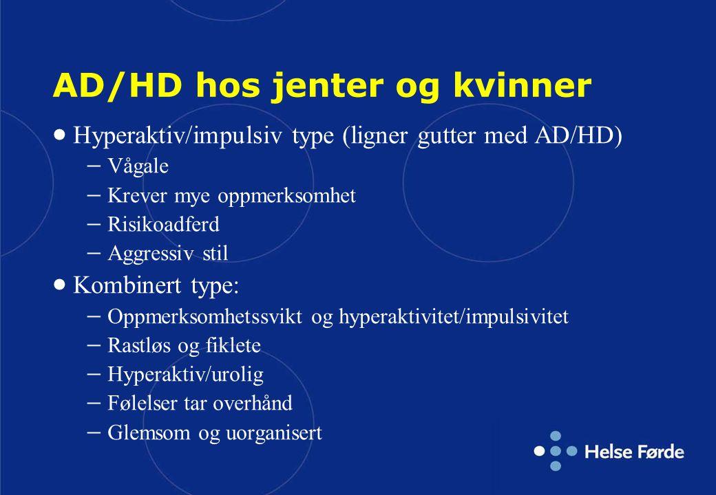 AD/HD hos jenter og kvinner