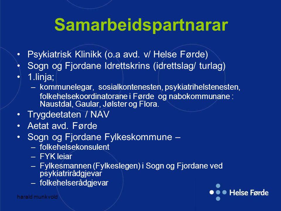 Samarbeidspartnarar Psykiatrisk Klinikk (o.a avd. v/ Helse Førde)