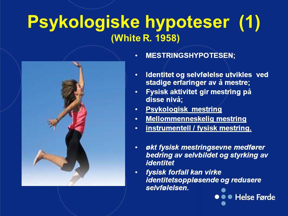 Psykologiske hypoteser (1) (White R. 1958)