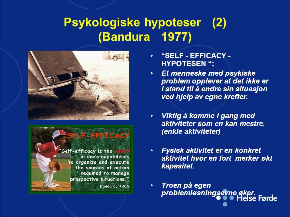 Psykologiske hypoteser (2) (Bandura 1977)