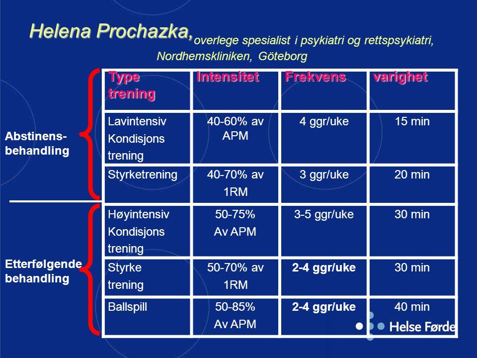 Helena Prochazka,overlege spesialist i psykiatri og rettspsykiatri, Nordhemskliniken, Göteborg