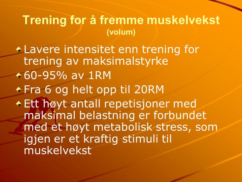 Trening for å fremme muskelvekst (volum)