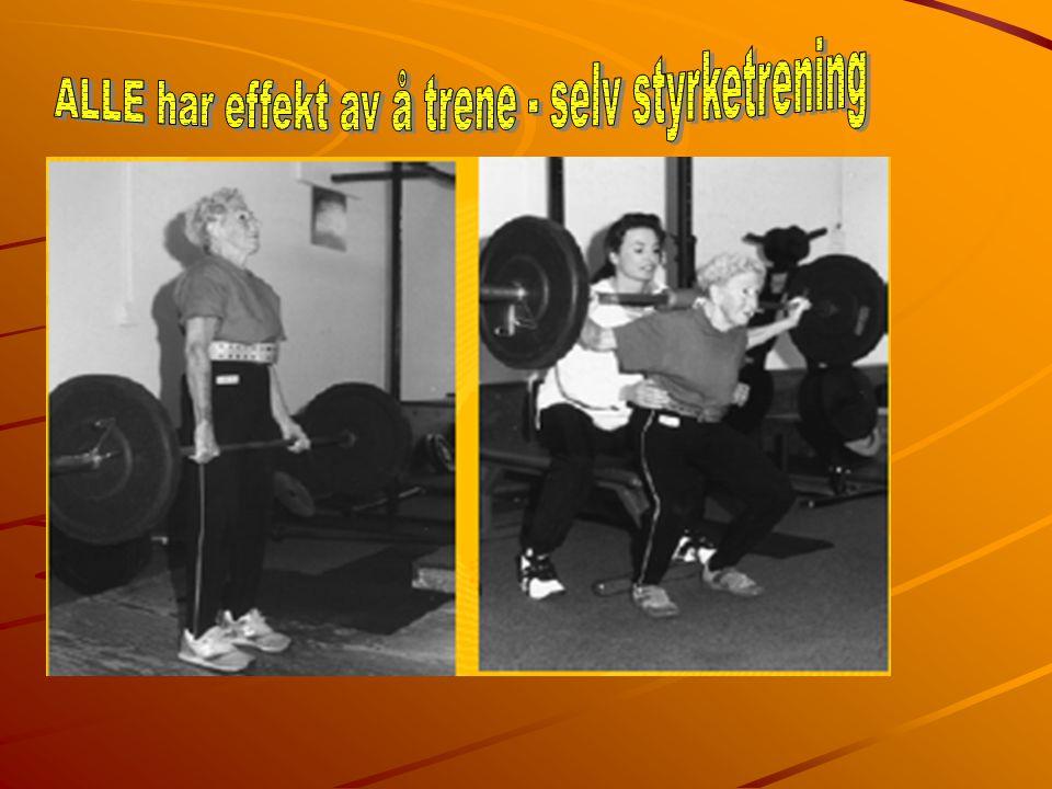 ALLE har effekt av å trene - selv styrketrening