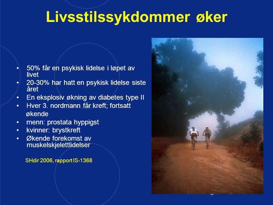 Livsstilssykdommer øker