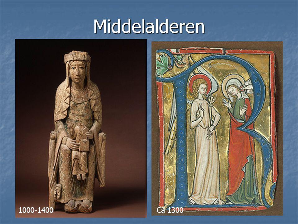 Middelalderen Ca 1000-1400, ca 1300 1000-1400 Ca 1300