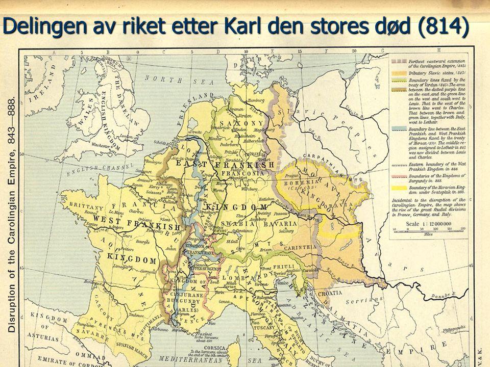 Delingen av riket etter Karl den stores død (814)