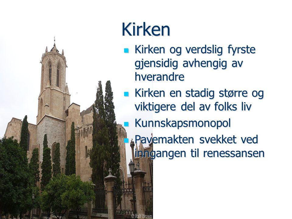 Kirken Kirken og verdslig fyrste gjensidig avhengig av hverandre