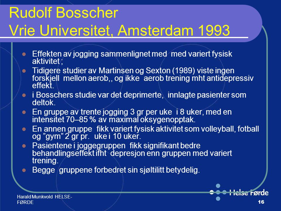 Rudolf Bosscher Vrie Universitet, Amsterdam 1993