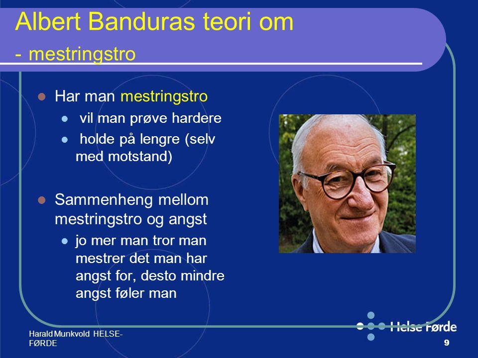 Albert Banduras teori om - mestringstro