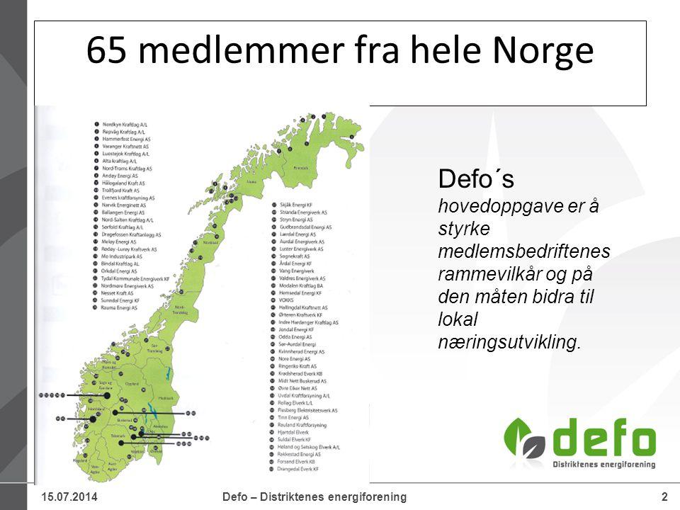 65 medlemmer fra hele Norge