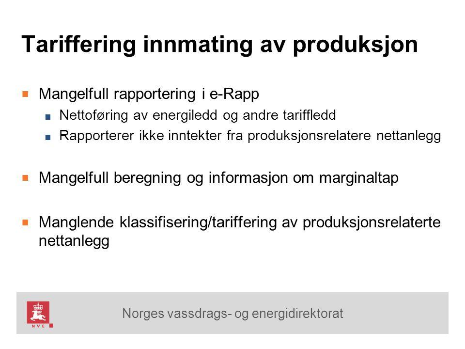 Tariffering innmating av produksjon