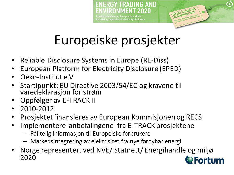 Europeiske prosjekter
