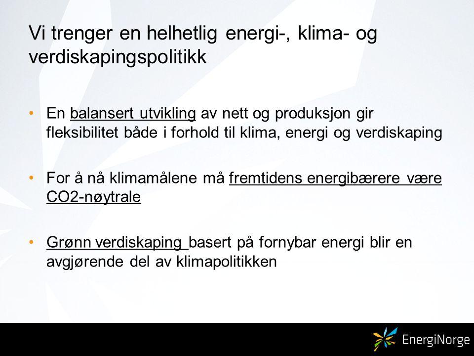 Vi trenger en helhetlig energi-, klima- og verdiskapingspolitikk