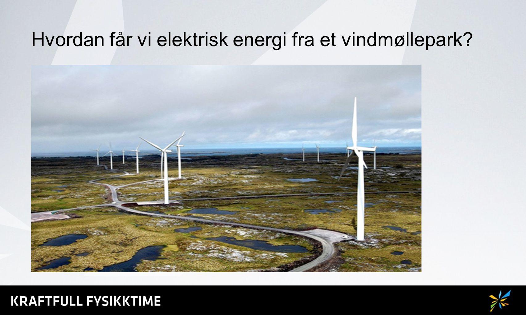 Hvordan får vi elektrisk energi fra et vindmøllepark