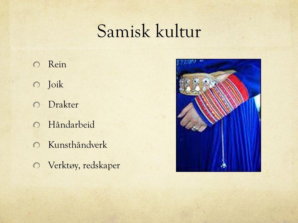 Samisk kultur Rein Joik Drakter Håndarbeid Kunsthåndverk
