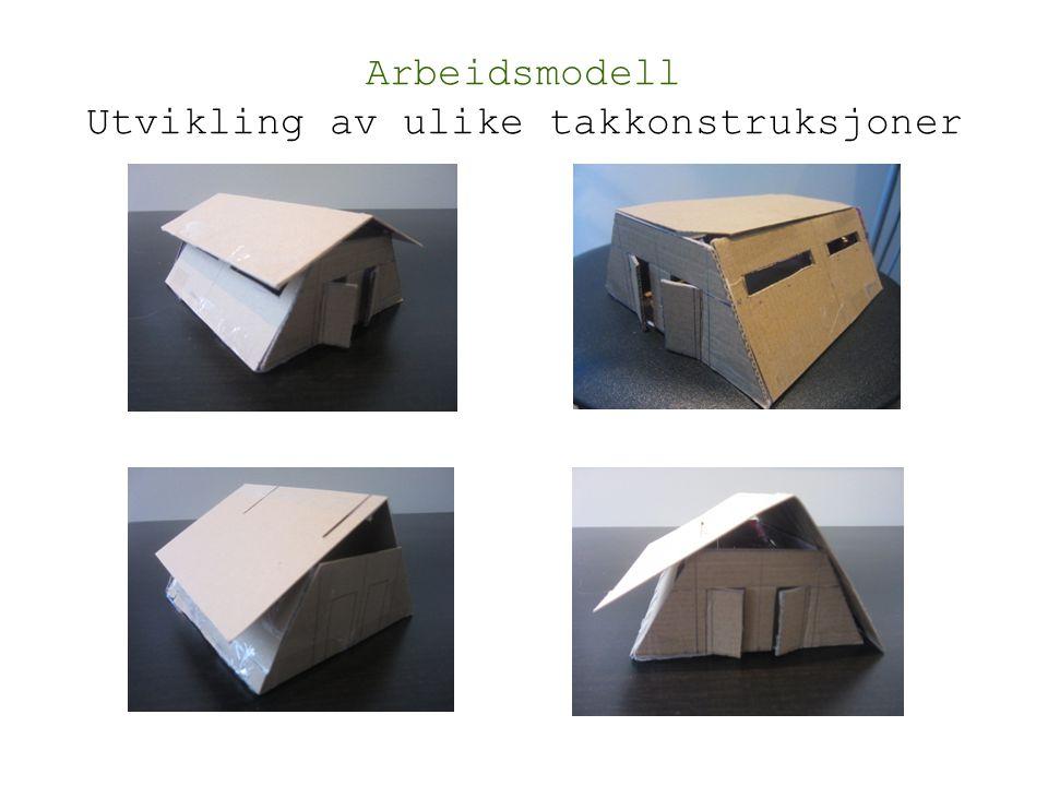 Arbeidsmodell Utvikling av ulike takkonstruksjoner