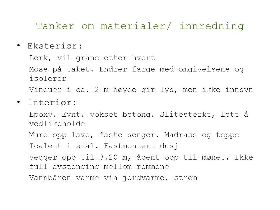 Tanker om materialer/ innredning