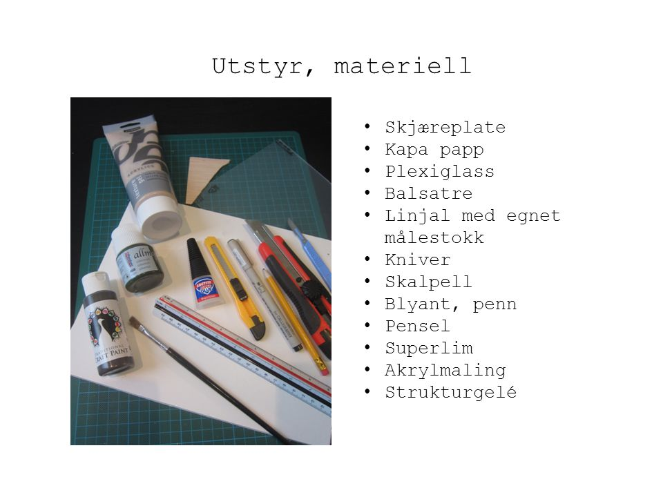 Utstyr, materiell Skjæreplate Kapa papp Plexiglass Balsatre