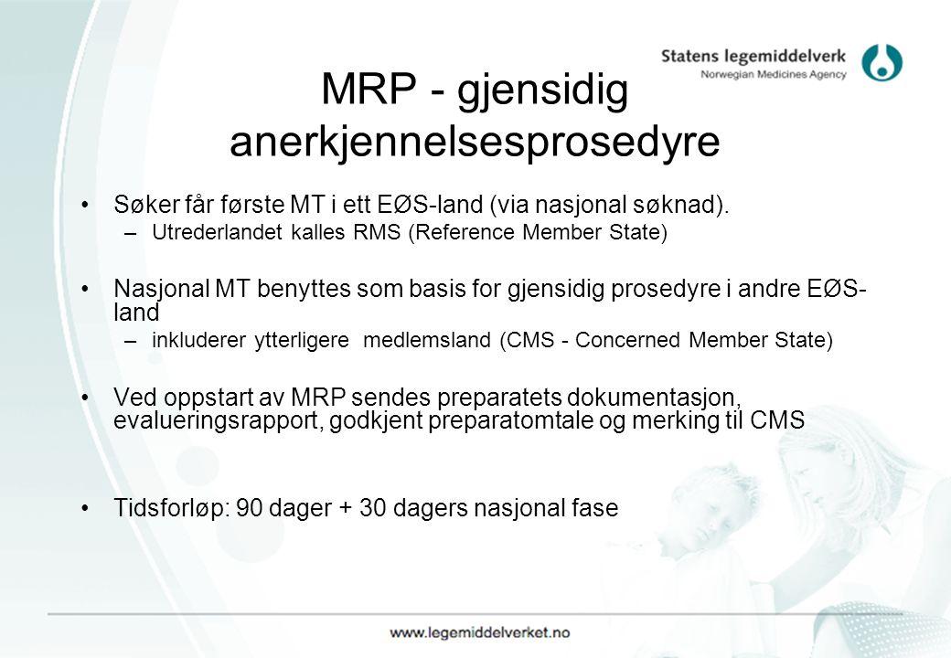 MRP - gjensidig anerkjennelsesprosedyre