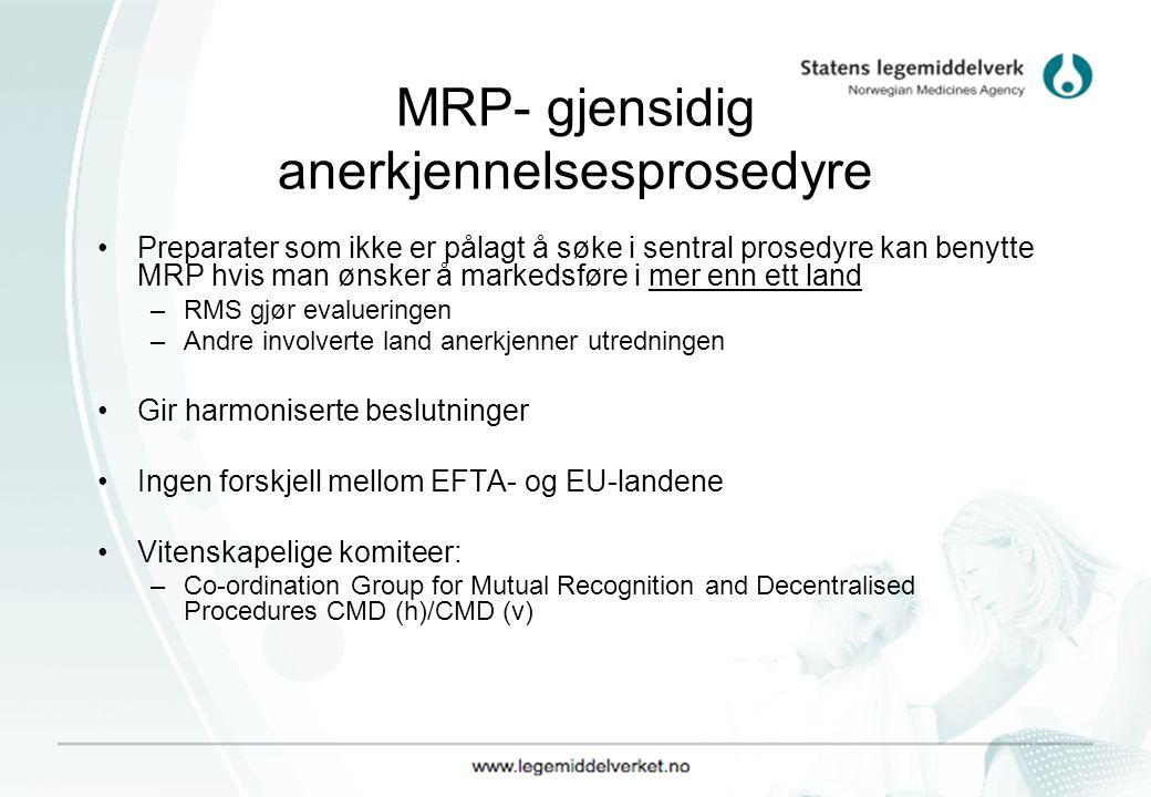 MRP- gjensidig anerkjennelsesprosedyre